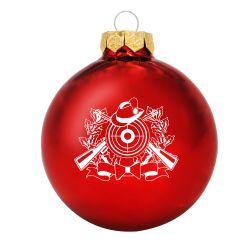Weihnachtsbaumkugel (glänzend) mit Schützenmotiv