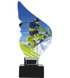 Acryltrophäe Snowboard-Freestyle