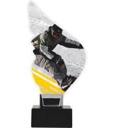 Acryltrophäe Alpinen-Snowboarding