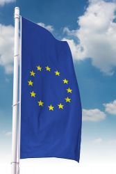 Europa-Hissfahne Hochformat