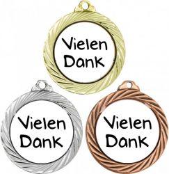 """Danke Medaille """"Passaron"""" Ø 32mm mit Doming-Aufkleber und Band"""