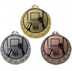 "Basketball Medaille ""Brixia"" Ø 32mm mit Wunschemblem und Band"