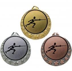 """Fecht Medaille """"Brixia"""" Ø 32mm mit Wunschemblem und Band"""