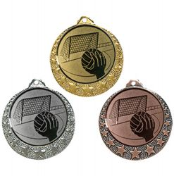 "Handball Medaille ""Brixia"" Ø 32mm mit Emblem und Band"