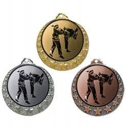 """Karate Medaille """"Brixia"""" Ø 32mm mit Wunschemblem und Band"""