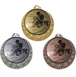 """Kart Medaille """"Brixia"""" Ø 32mm mit Wunschemblem und Band"""