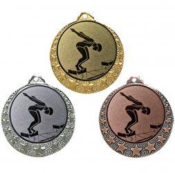 """Schwimm Medaille """"Brixia"""" Ø 32mm mit Emblem und Band"""