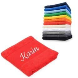 Handtuch mit individueller Bestickung