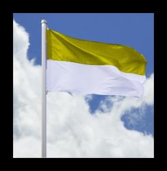 SALE: Hissfahne Quer - Flagge gelb-weiß 200 x 335 cm