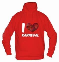 """Hoodie """"I Love Karneval"""" - Herren"""