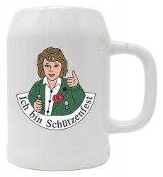 """Bierkrug 0,5l """"Ich bin Schützenfest""""-Frau"""