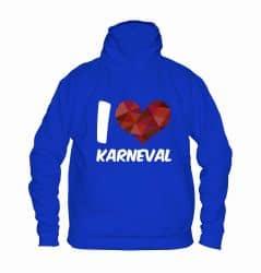"""Hoodie """"I Love Karneval"""" - Kinder"""