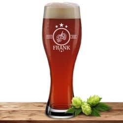 """Leonardo Weizenglas 0,5l mit Motiv """"Finest Beer"""" mit Name oder Wunschtext"""