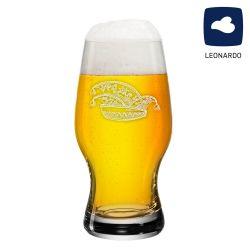 Leonardo Bierglas 0,33l Taverna mit Narrenkappe