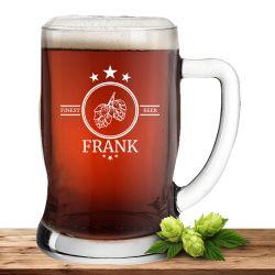 """Leonardo Bierseidel 0,5l Taverna mit Motiv """"Finest Beer"""" mit Name oder Wunschtext"""