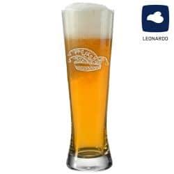 Leonardo Weizenglas 0,5l Bionda mit Narrenkappe