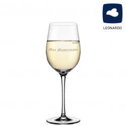 Leonardo Weißweinglas 370ml Ciao+ mit individueller Namensgravur