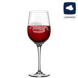 Leonardo Rotweinglas 430ml Ciao+ mit Narrenkappe