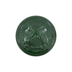 Schützenknopf 17 mm mit Öse grün