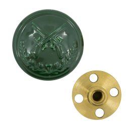 Schützenknopf 17 mm mit Gewinde grün