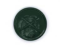 Schützenknopf grün 22 mm mit Öse