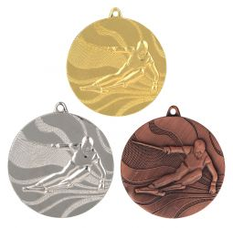 """Medaille """"Ski"""" Ø 50mm mit Band"""