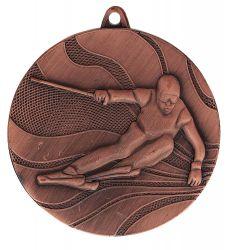 """Medaille """"Ski"""" Ø 50mm mit Band Bronze"""