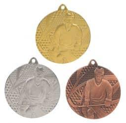 """Medaille """"Eishockey"""" Ø 50mm mit Band"""