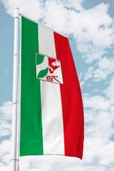 NRW-Bürgerflagge für Ausleger im Hochformat
