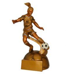 Fußballerin Figur TRY-RF8001-G gold