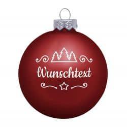 Weihnachtsbaumkugel Glas (matt) inklusive Wunschtextgravur