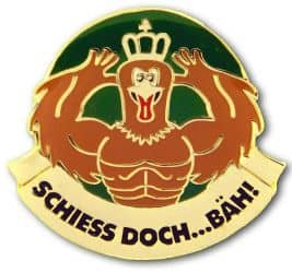 """""""Schiess doch - Bäh!"""" Adler Pin"""