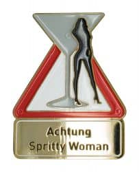 Achtung Spritty Woman - Pin