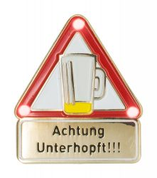 Achtung Unterhopft - Pin mit Blinkis
