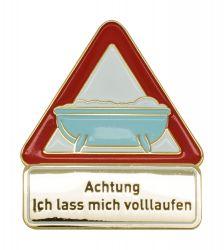 Achtung Badewanne - Pin