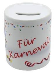 """Spardose """"Für Karneval"""""""