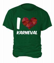 """T-Shirt """"I Love Karneval"""" - Herren"""