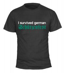 "T-Shirt ""I survived german Schützenfest"" - Herren"