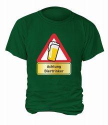 "T-Shirt ""Achtung Biertrinker"" - Herren"