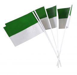 Papierfähnchen grün-weiß für Schützenfest (50 Stück)