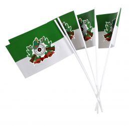 Papierfähnchen grün-weiß mit Schützenmotiv - farbig (50 Stück)
