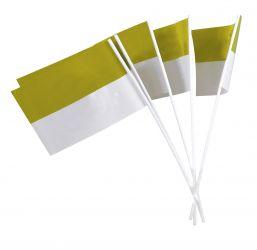 Papierfähnchen gelb-weiß