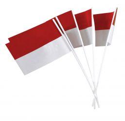Papierfähnchen rot-weiß