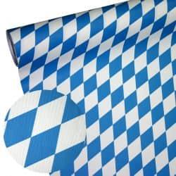Papiertischdecke Raute blau-weiß wetterfest
