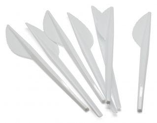 Plastikmesser, weiß 100 Stk.