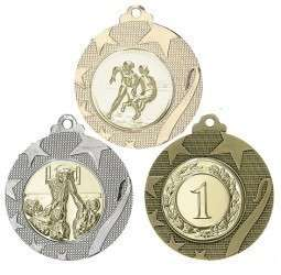 """Medaille """"Iraklio"""" Ø 50mm mit Wunschemblem und Band"""