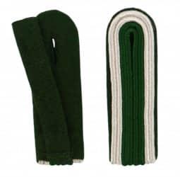 Schulterstücke mit Aussensoutache silber grün