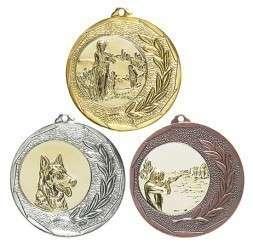 """Medaille """"Singos"""" Ø 40mm mit Emblem und Band"""