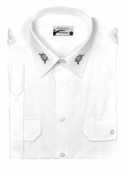 Schützenhemd - Pilotenhemd Kurzarm mit Stickemblem Slim Fit