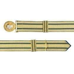 Feldbinde gold mit blauen Streifen (blau National)